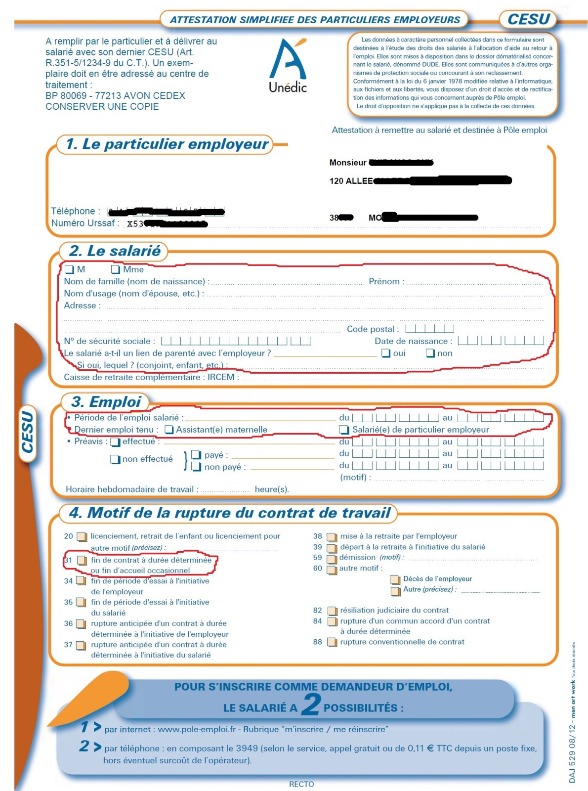 exemple attestation de domicile
