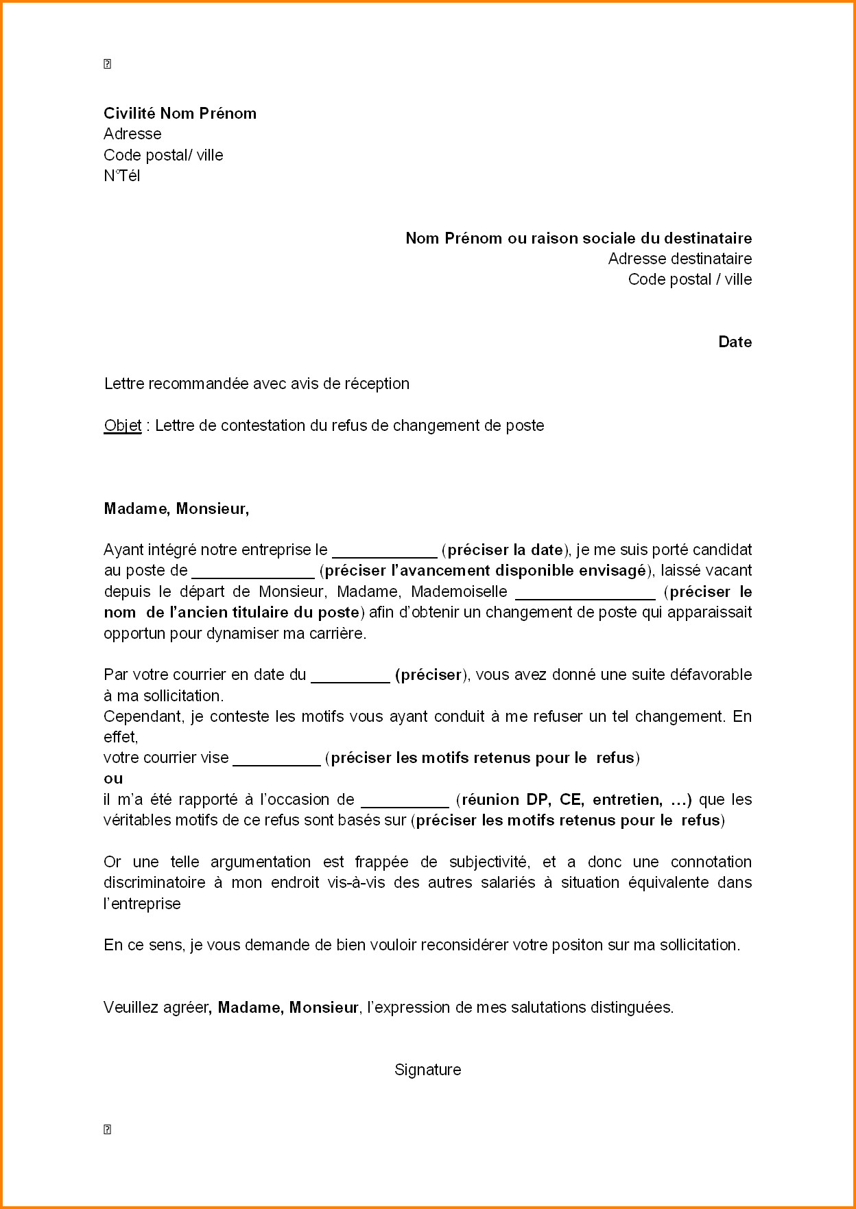 Lettre de motivation changement de poste | Hostal dels trabucayres