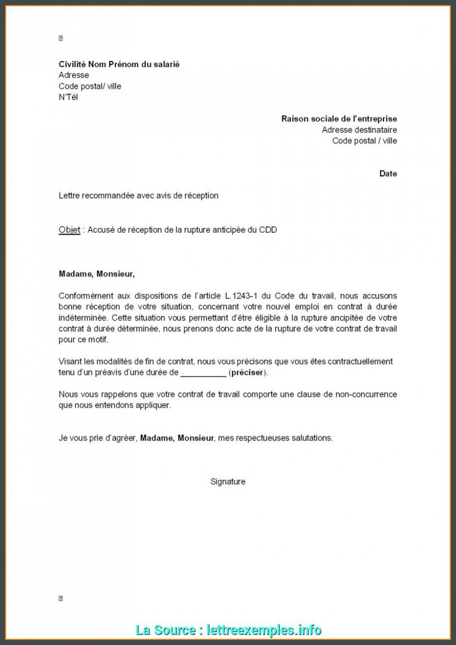De Base Exemple De Lettre De Demission En Conge Parental Lettre ...