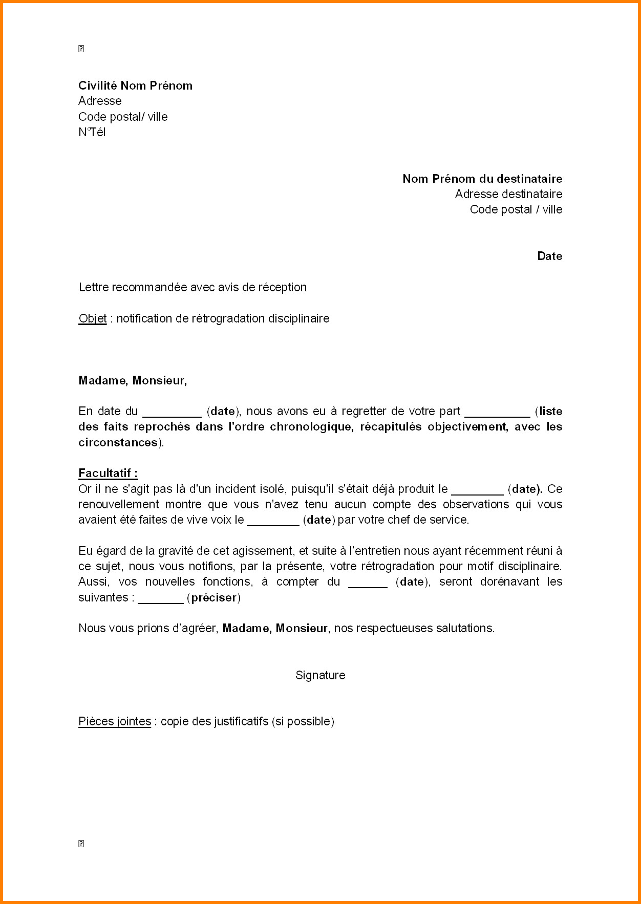 Exemple courrier officiel | Buyintuscany