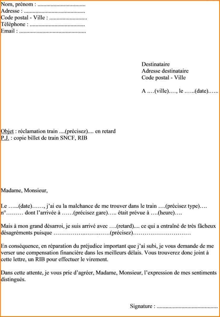 Exemple lettre réclamation | Frefred